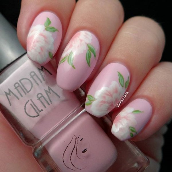 60 beautiful pink nail art designs ideas ecstasycoffee pink nail art designs ideas16 prinsesfo Image collections