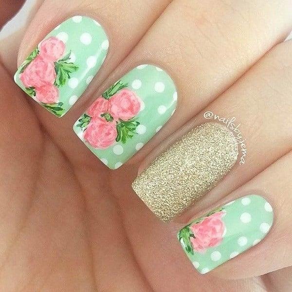 44 Lovely Flower Nail Art Design Ecstasycoffee