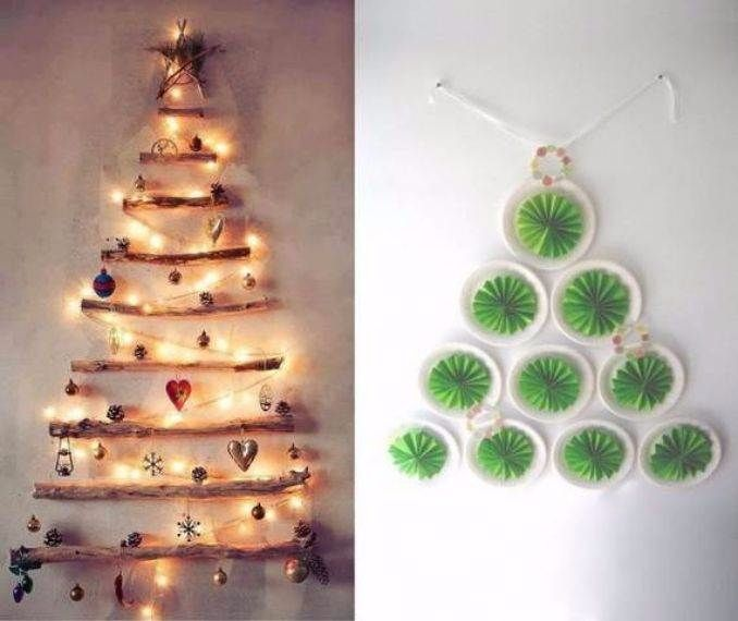 Christmas Wall Decoration Ideas For Office : Cool wall christmas tree ideas for your home
