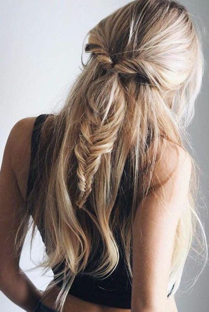 36 cute half ponytail hairstyles you need to try - Peinados de semirecogido ...