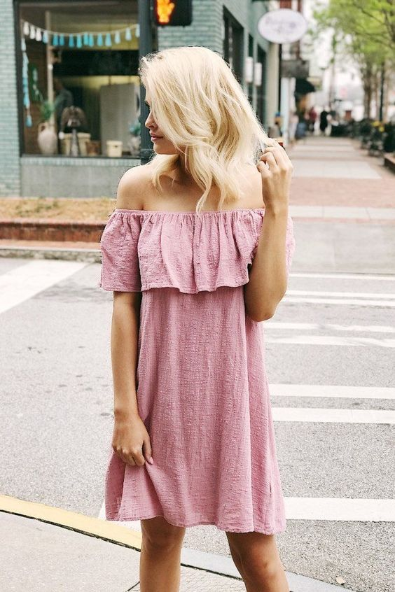 45 Cute Off Shoulder Dresses to Flaunt the Classic Women Fashion